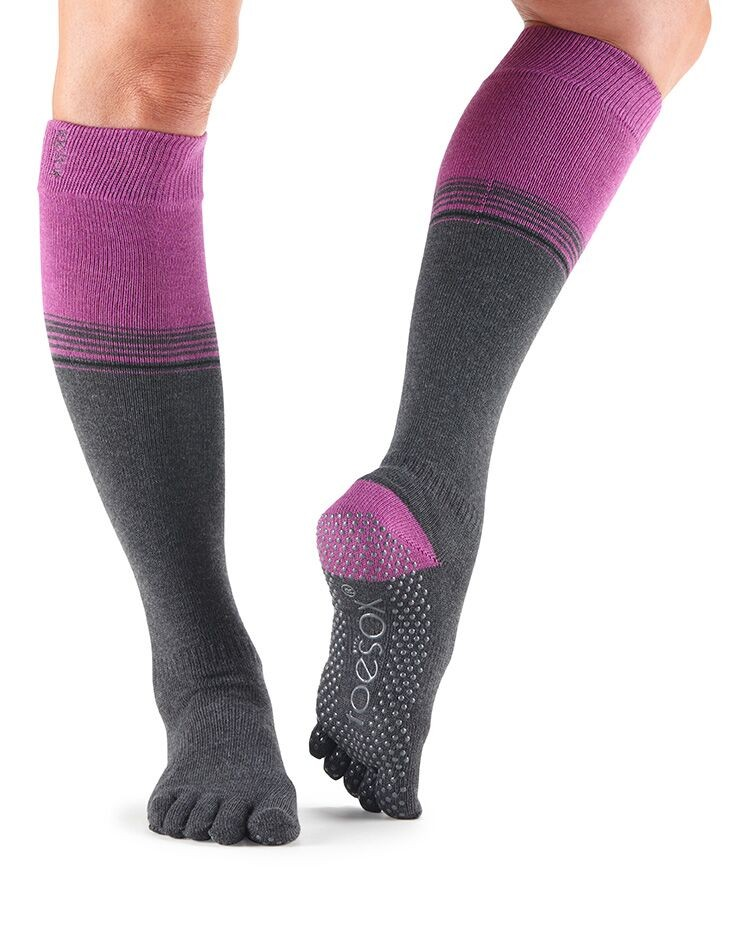 Full Toe Scrunch Knee High Grip Socks Sale